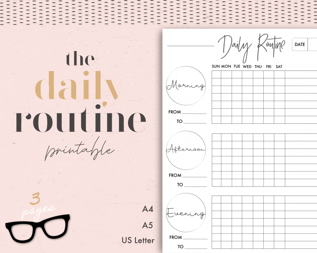 the daily routine printable