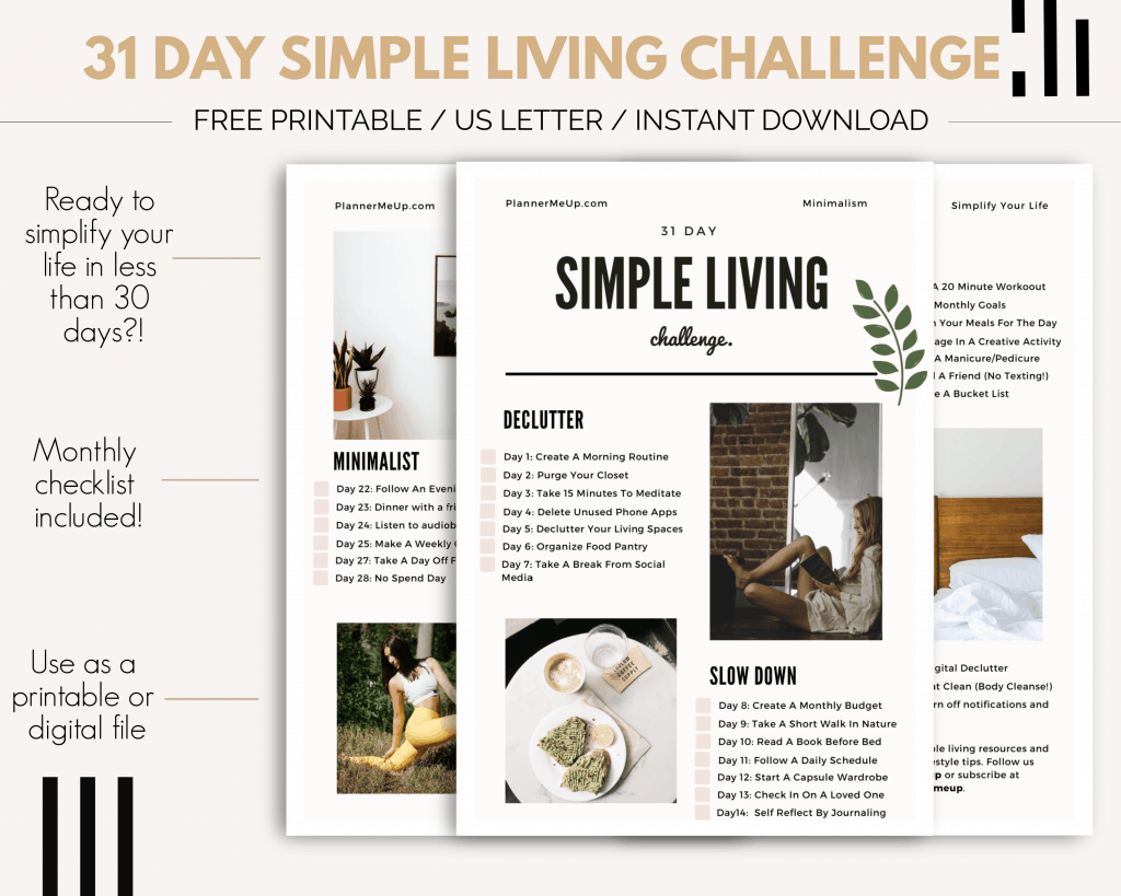 31 Day Simple Living Challenge